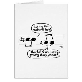 Musical Joke Cartoon Greeting Card