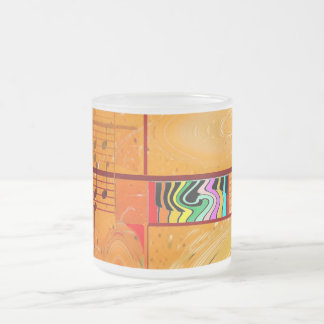Musical Journey Frosted Glass Mug