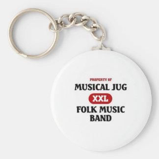 Musical Jug Folk Music Band Keychain