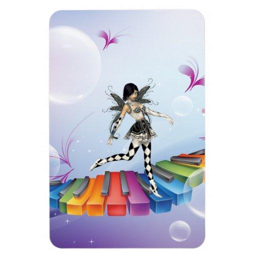 Musical Keyboard Faerie Vinyl Magnet
