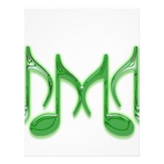 "Musical Letter ""M"" Flyer Design"