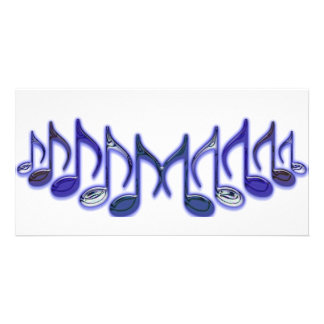 """Musical Letter """"M"""" Personalized Photo Card"""