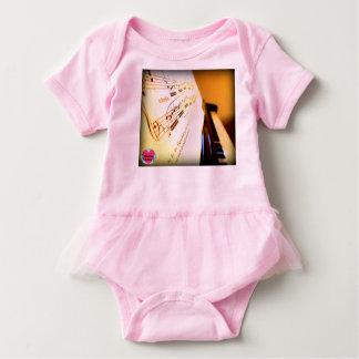 Musical Lifetimes Baby Piano Keys Tutu Bodysuit