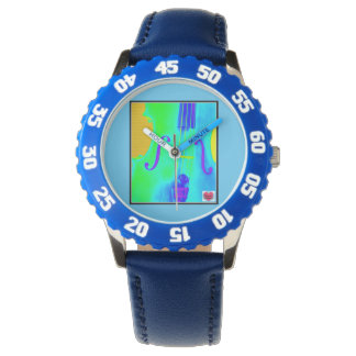 Musical Lifetimes Boy's Cello Strings Music Watch