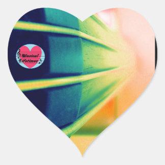Musical Lifetimes Cello Heart Sticker