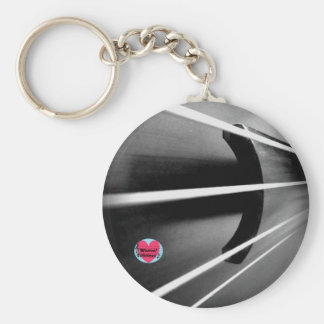 Musical Lifetimes Cello Strings Button Keyring