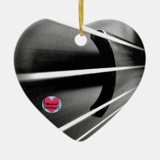 Musical Lifetimes Cello Strings Ceramic Decoration Ceramic Heart Decoration