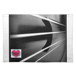 Musical Lifetimes Cello Strings Cloth Placemat