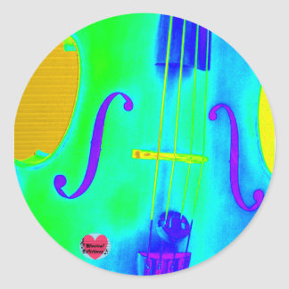 Musical Lifetimes Circular Green Cello Sticker