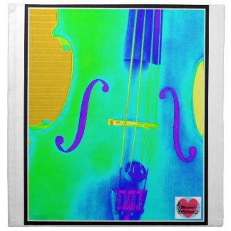 Musical Lifetimes Green Cello Cloth Napkin