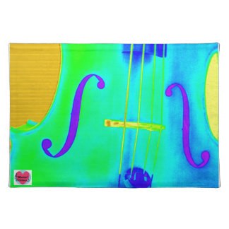 Musical Lifetimes Green Cello Cloth Placemat