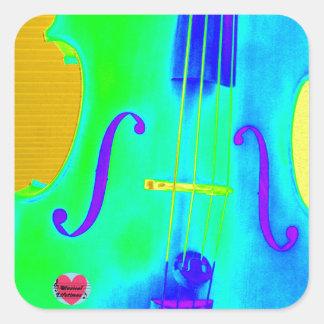 Musical Lifetimes Green Cello Square Sticker