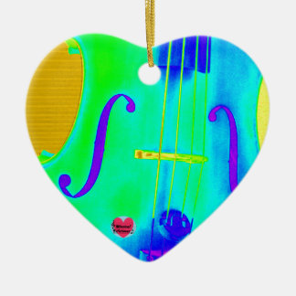 Musical Lifetimes Heart Cello Hanging Decoration