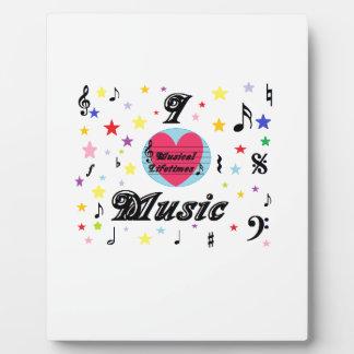 Musical Lifetimes 'I Love Music' Display Plaque