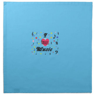 Musical Lifetimes 'I Love Music' Printed Napkins