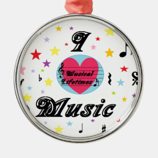 Musical Lifetimes 'I Love Music' Round Decoration