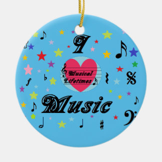 Musical Lifetimes 'I Love Music' Round Decoration
