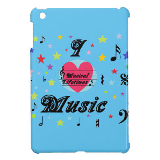 Musical Lifetimes iPad Mini 'I Love Music' Cover Case For The iPad Mini