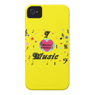 Musical Lifetimes iPhone 4 'I Love Music' Case