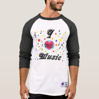 Musical Lifetimes Men's 'I Love Music' T-Shirt
