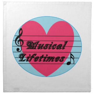 Musical Lifetimes Original Cloth Music Napkins