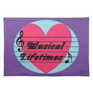 Musical Lifetimes Original Cotton Dinner Placemats