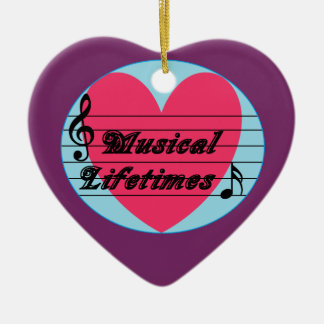 Musical Lifetimes Original Heart Ornament