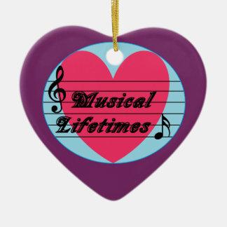Musical Lifetimes Original Heart Ornament