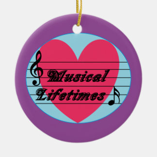 Musical Lifetimes Original Round Ornament