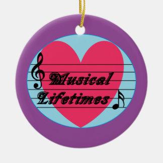 Musical Lifetimes Original Round Ornament