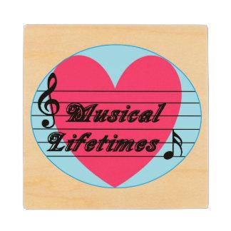 Musical Lifetimes Original Wooden Drinks Coaster