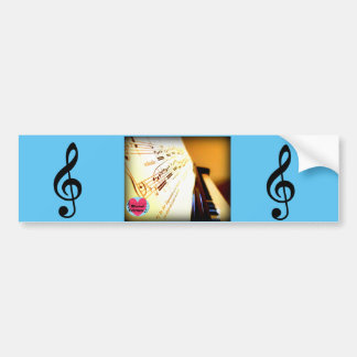 Musical Lifetimes Piano Keys Bumper Sticker
