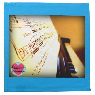 Musical Lifetimes Piano Keys Cloth Napkins