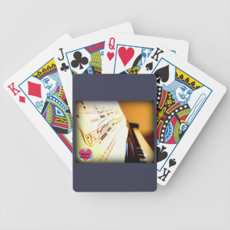Musical Lifetimes Piano Keys Deck Of Cards