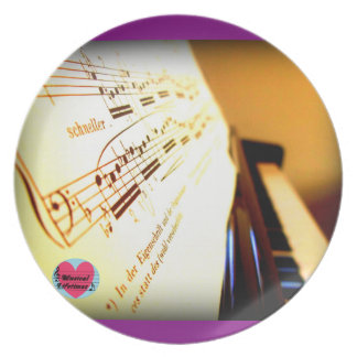 Musical Lifetimes Piano Keys Dinner Plate