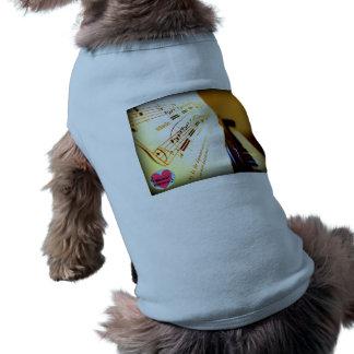 Musical Lifetimes Piano Keys Dog T-Shirt