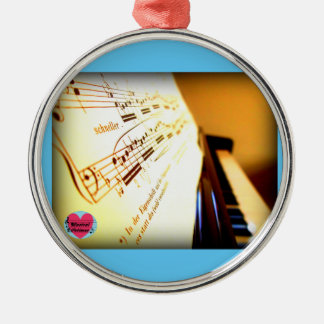 Musical Lifetimes Piano Keys Hanging Decoration Silver-Colored Round Decoration