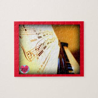 Musical Lifetimes Piano Keys Jigsaw Puzzle