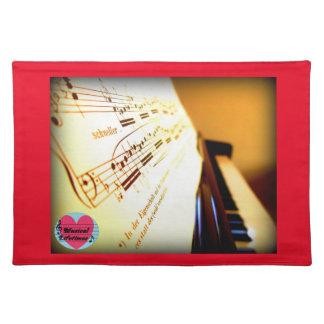 Musical Lifetimes Piano Keys Place Mat