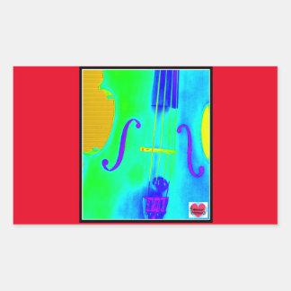 Musical Lifetimes Rectangle Green Cello Sticker
