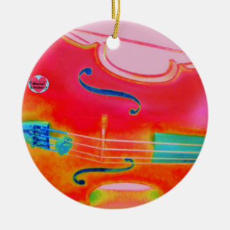 Musical Lifetimes Red Cello Circle Decoration