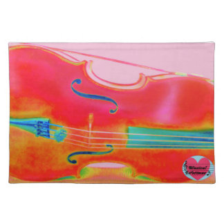 Musical Lifetimes Red Cello Dinner Placemats