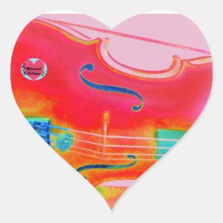 Musical Lifetimes Red Cello Heart Sticker