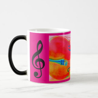 Musical Lifetimes Red Cello Morphing Mug