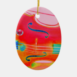 Musical Lifetimes Red Cello Oval Decoration