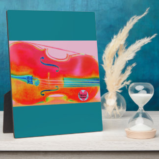 Musical Lifetimes Red Cello Plaque With Easel