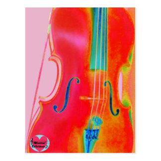 Musical Lifetimes Red Cello Postcard