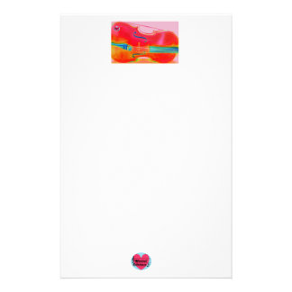 Musical Lifetimes Red Cello Stationery Paper
