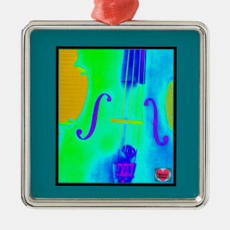 Musical Lifetimes Square Framed Cello Decoration