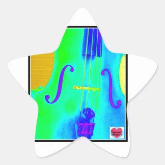 Musical Lifetimes Star Green Cello Music Sticker
